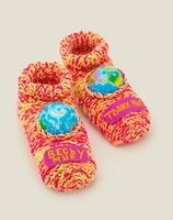 Домашние носки Весь мир у твоих ног с глобусами