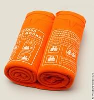 Пончо  для двоих оранжевое
