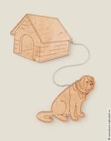 Магнит Собака с будкой Охрана холодильника