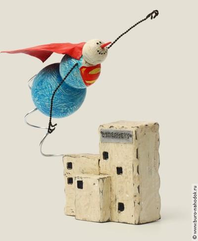 Снеговик супермен оптом